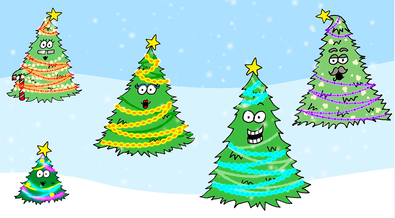 Baby Christmas Tree - New animation video on YouTube.
