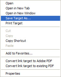 Save option - PC Internet Explorer