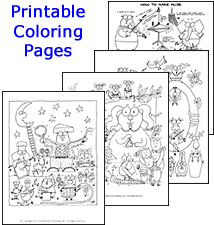 Printable Coloring Pages from Music K-8 Covers